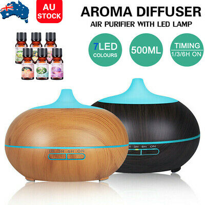 AU25.09 • Buy LED Aroma Aromatherapy Diffuser Essential Oil Ultrasonic Air Humidifier Purifier