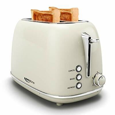 $62.71 • Buy Toasters 2 Slice Retro Stainless Steel Toasters With Bagel, Cancel, (beige)