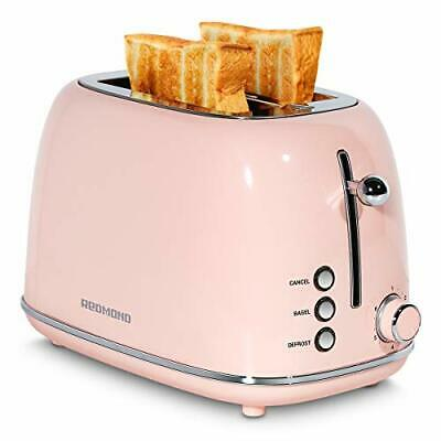 $61.22 • Buy REDMOND 2 Slice Toaster Retro Stainless Steel Toaster With Bagel, (Pink)