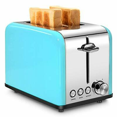 $63.43 • Buy Toaster 2 Slice, Retro Small Toaster With Bagel, Cancel, Defrost (Turquoise)