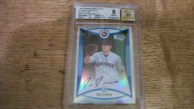 $9.99 • Buy IKE DAVIS 2008 Bowman Chrome Draft AUTO Refractor DPP116 BGS NM-MT 8 RC Mets
