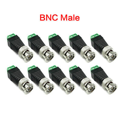 $ CDN6.34 • Buy 10Pcs BNC DC Connector Male Female Adapter For Camera CCTV TV Video Balun Cable