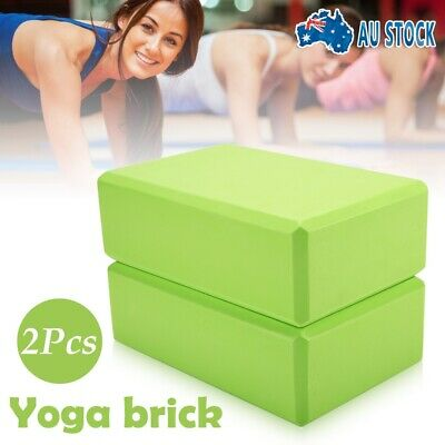 AU14.99 • Buy 2Pcs Yoga And Pilates Block Foaming Brick Home Exercise Practice Fitness Tools