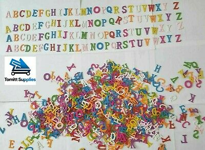 £3.99 • Buy Multi-coloured A-z Alphabet Letter Wooden Beads For Jewellery Making