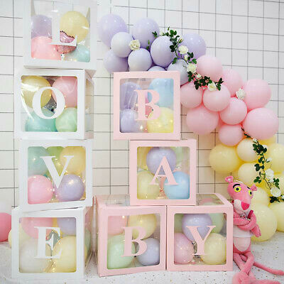 AU25.59 • Buy 4Pcs/Set Transparent Balloon Box Wedding Love Baby Valentine's Day Decor AU