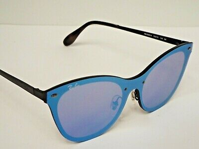 $33.36 • Buy NEW Ray-Ban RB3580N 153/7V Blaze Cat Eye Black Silver Mirror Sunglasses $248