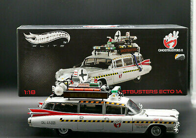 Ghostbusters 2 Hot Wheels Elite Ecto 1a, 1:18 _ 1/18 Mint Condition! Top Rare • 634.13£