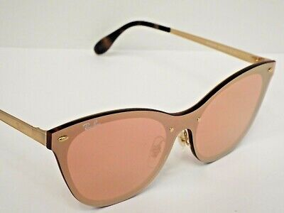 $33.36 • Buy NEW Ray-Ban RB3580N 043/E4 Blaze Cat Eye Gold Pink Mirror Sunglasses $248