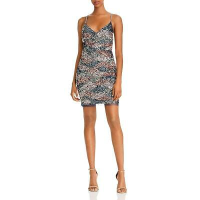 $27.76 • Buy Aidan By Aidan Mattox Womens Sequined V-Neck Party Cocktail Dress BHFO 8044