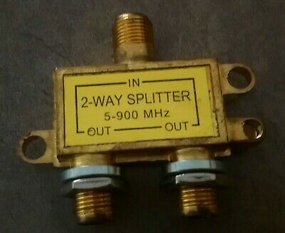 AU12.50 • Buy 2 Way Coax/Coaxial TV HDTV 5-900MHz RF Splitter