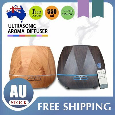 AU32.05 • Buy LED Ultrasonic Aroma Aromatherapy Diffuser Essential Oil Air Humidifier 550ml AU