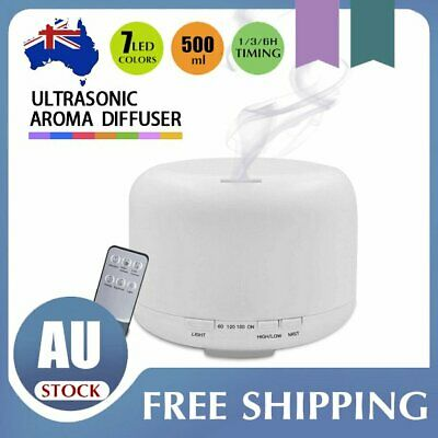 AU27.05 • Buy LED Aroma Diffuser Essential Oil Ultrasonic Air Aromatherapy Humidifier 500ml