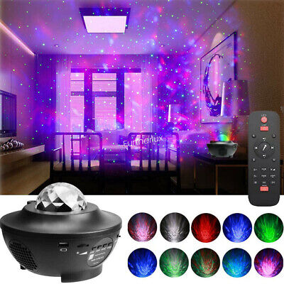 Galaxy Star Night Lamp LED Starry Night Light Ocean Wave Projector With Music • 20.99£
