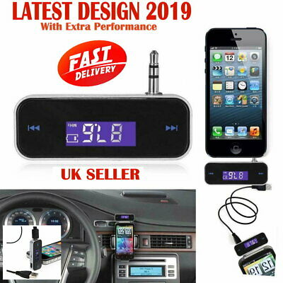 Mini Wireless Car FM Transmitter MP3 Radio For Phone IPhone, IPod, Samsung, HTC • 3.99£