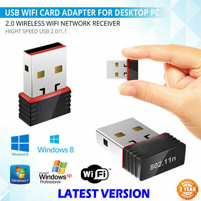 300Mbps Wireless Usb Adapter Wifi Internet Dongle 802.11 B/G/N For Windows7 8 10 • 3.29£