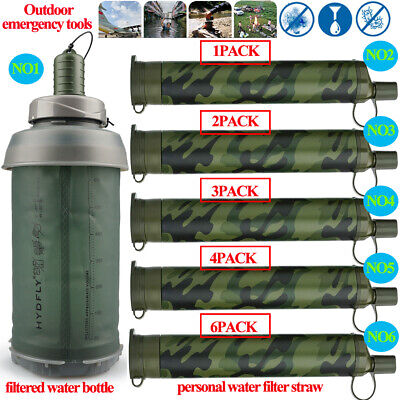 $19.52 • Buy Water Bottle|Portable Water Filter Straw&Purifiers For Camping,Backpack,Survival