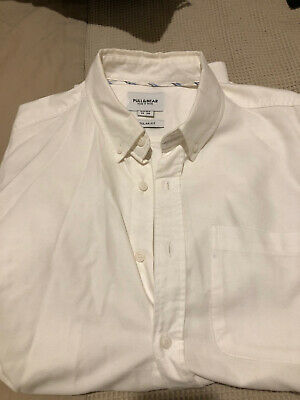 AU9.50 • Buy Pull And Bear White Cotton Shirt