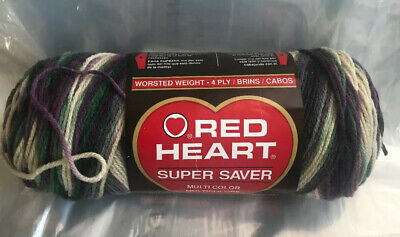 $18.99 • Buy Red Heart SAGE MARY #997  Yarn VARIEGATED OMBRE Super Saver 1 SKEIN