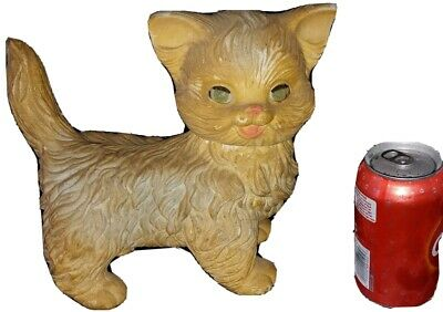 $25 • Buy Vintage 1960 The Edward Mobley Co. Arrow Rubber Toy Squeaking Cat 9 1/2  Long