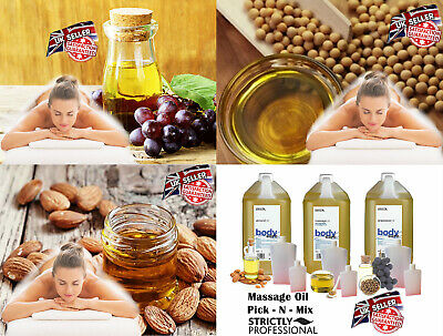 £4.89 • Buy Body Back Neck Massage Oil Almond Grapeseed Strictly Professional 50ml 100ml 4L