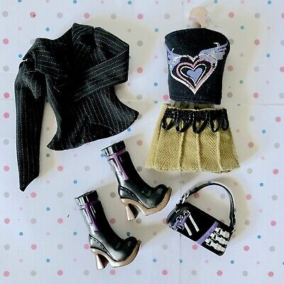 $9.50 • Buy My Scene Barbie Doll Clothes Lot Including Jacket, Halter Top, Skirt & Boots