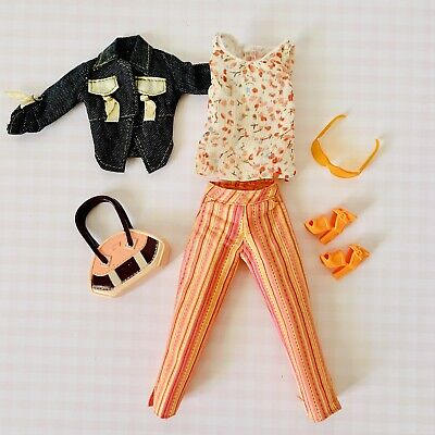 $9.50 • Buy My Scene Barbie Doll Clothes Lot Includes Cute Jacket, Top, Pants, Purse & Shoes
