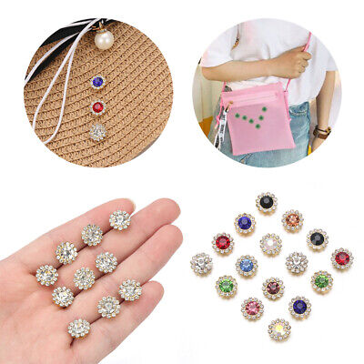 Hat Accessories Clothes Decoration Buttons Rhinestone Crystal Glass Stone • 2.02£