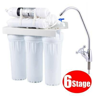 6 Stage Under Sink Ultra Filtration Purifier Drinking Water Filter System W/ Tap • 56.99£