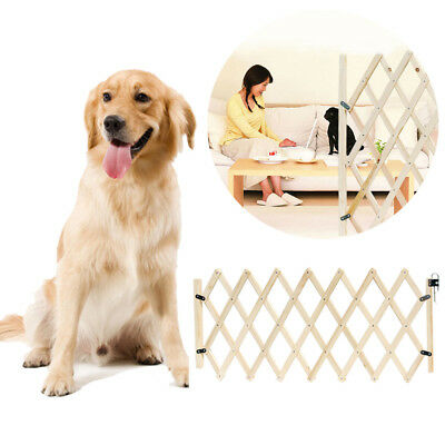 Folding Baby Gate Safety Fence Pet Cat U Dog Door Wood Protection Child Barrier • 26.01£