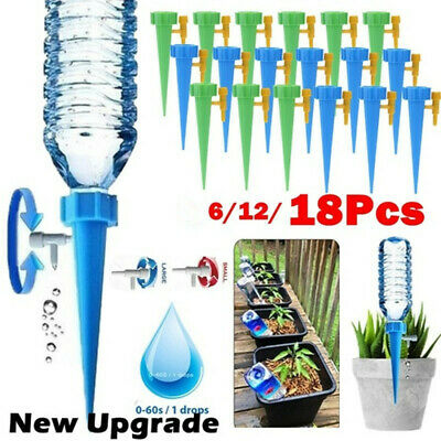 6/12/18x Automatic Irrigation Device Drip Flower Plant Sprinkler Watering Spike • 7.99£