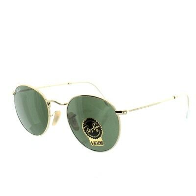 £88.40 • Buy Ray Ban RB3447 Round Metal Gold Sunglasses 001 Gold G15 Brand New