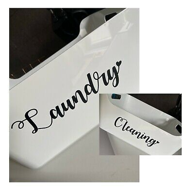 Cleaning - Laundry Vinyl Decals Stickers - Mrs Hinch Labels - Organise • 1.85£