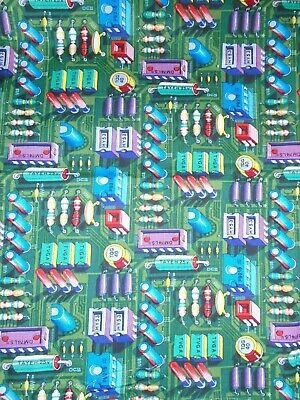 $7.99 • Buy Computer Fabric CHIP OFF THE OLD BLOCK FROM ALEXANDER HENRY - 100% COTTON RARE!