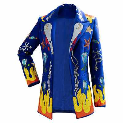 Birds Of Prey Cosplay Harley Quinn Sequined Jacket Costume High Quality • 50.60£