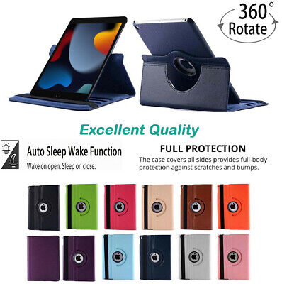 £1.29 • Buy 360 Rotating PU Leather Smart Case Cover For Apple IPad 10.2 AIR MINI PRO 10.5