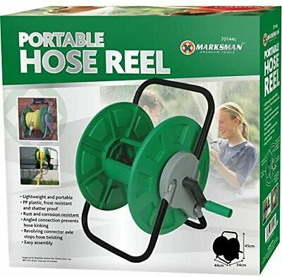 New Portable Hose Reel Garden Watering Pipe Free Standing Winder Quality Compact • 11.95£