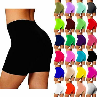 £4.95 • Buy Womens Ladies Cycling Shorts Viscose Over Knee Gym Dancing Active