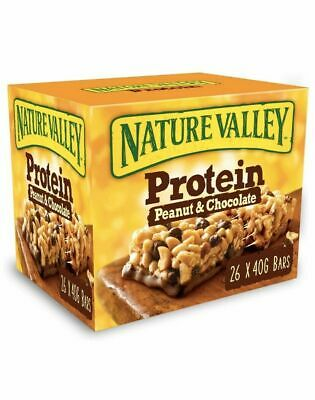 £18.99 • Buy Nature Valley Protein Peanut & Chocolate Gluten Free Cereal Bars Pack Of 26x40g