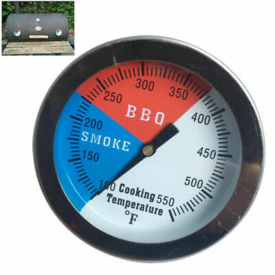 Stainless Steel BBQ Smoker Grill Thermometer Temperature Gauge BBQ Tools • 4.55£
