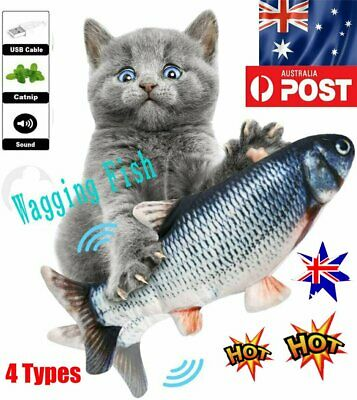 AU12.72 • Buy Electric Fish Cat Toy Wagging Fish Realistic Plush Simulation Catnip AU PB