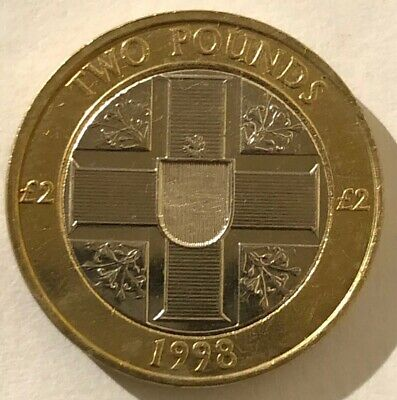 1998 Guernsey - Rare Two Pounds - Unc £2 Coin - Free Post • 9.99£