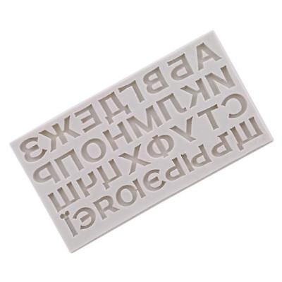 £3.81 • Buy Alphabet Letter Silicone Fondant Mold Cake Chocolate Sugarcraft Cutter Moulds YW