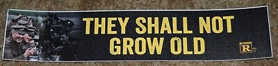 $15 • Buy They Shall Not Grow Old War Movie Theater Mylar Banner Poster Small 2.5X11.5 NEW
