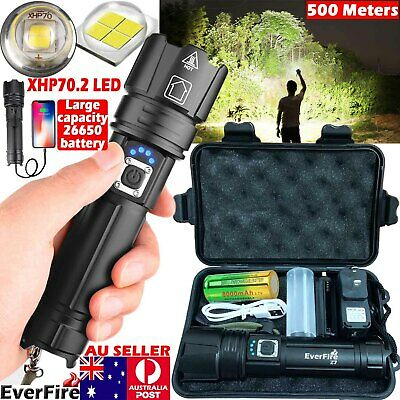 AU42.99 • Buy High Power 999000LM CREE XHP70.2 Zoom Flashlight LED Rechargeable Torch Headlamp