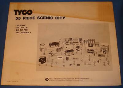 $ CDN63.13 • Buy Tyco Ho Scale Trains 55 Piece Die Cut Scenic Train City Cardboard Buildings