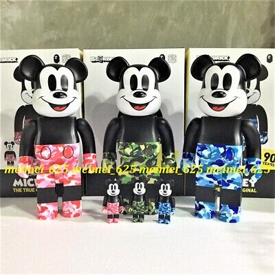 $1088.88 • Buy Bearbrick Medicom 2019 Disney X Bathing Bape Mickey Mouse 100% 400% Be@rbrick