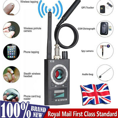 View Details Anti-Spy Hidden Camera Detector RF Signal Bug GPS GMS Finder Tracker Scanner UK • 30.99£