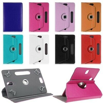 Universal 360° Rotating Leather Case Cover ALL 10  & 10.1  LENOVO SAMSUNG KINDLE • 4.99£