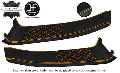 $ CDN325.52 • Buy Yellow Diamond Stitch 2x Door Sill Leather+luxe Suede Cover For Lotus Elise S2