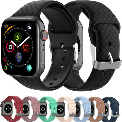 $ CDN6.65 • Buy For Apple Watch Series 5/4/3/2/1 38/40/42/44mm Soft Silicone Sports Band Strap